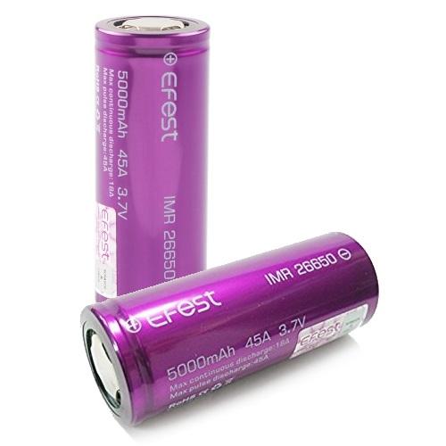 Аккумуляторная батарея Efest IMR 26650 Li-Mn 5000 mAh 45A