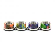 Топ-кэп дрип-атомайзера 24 мм. - Топ-кэп (крышка) для дрип-атомайзеров диамтером 24 мм.  Однооринговый, с глянцевой поверхностью и стальным основанием.