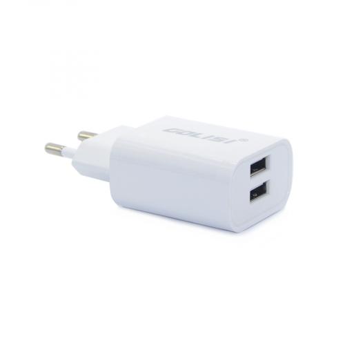 Сетевой адаптер Golisi Dual, USB-220V/ 2.4A