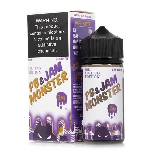 Жидкость Jam Monster - PB & Jam Grape 100мл/3мг