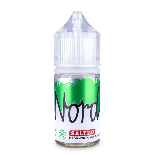 Жидкость Nord Salt 30 мл. Бабл Гам с холодком 24 мг./мл.