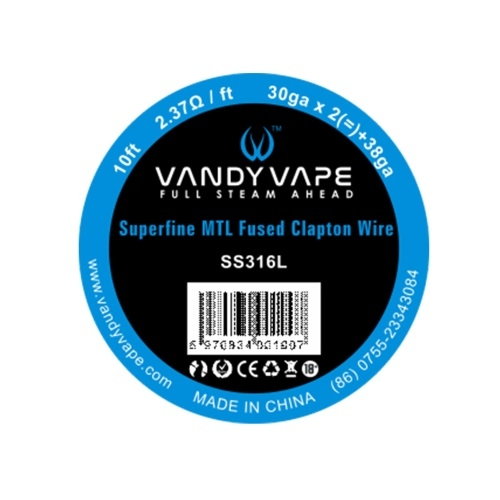 Проволока SS316L, плетеная Vandy Vape Superfine MTL Fused Clapton