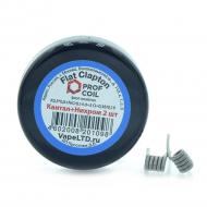 Спираль Prof Coil ''Flat Clapton Coil'' (KA 0,3x0,8мм. + 0,14мм.), 2 шт.